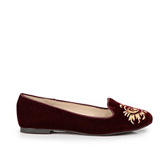 Buffalo Loafer aus bordeaux-farbenem Samt