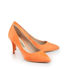 Buffalo Ballerina aus orange-farbenem Satin