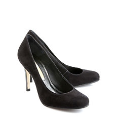 Buffalo Wildleder-Pumps in schwarz