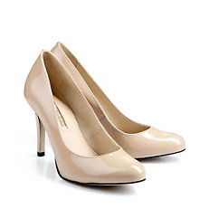Buffalo Pumps aus beige-farbenem Lackleder