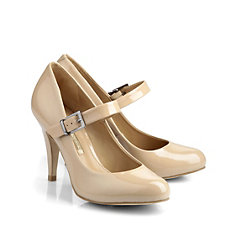 Buffalo Pumps aus nude-farbenem Lackleder