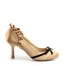 Buffalo Pumps aus bronze-farbenem Satin