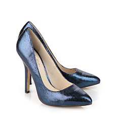 Buffalo Pumps in blauer Glitzeroptik