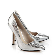 Buffalo Pumps in silber-farbener Glitzeroptik