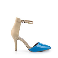 Buffalo Pumps in beige-farbener Lederoptik