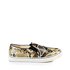 Buffalo Slip On in beige-farbener Reptiloptik