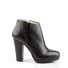 Buffalo Ankle Boots aus schwarzem Leder