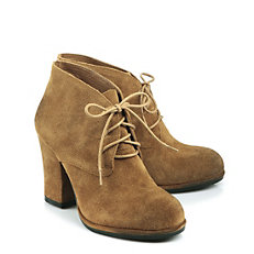 Buffalo Ankle Boots aus Veloursleder, used-Optik