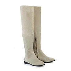 Buffalo Overknee-Boot in beige
