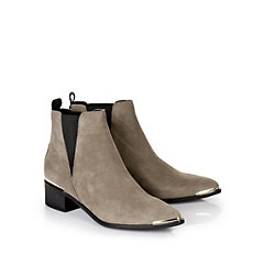 Flache Booties in taupe