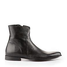 Buffalo Herren-Stiefelette aus schwarzem Leder