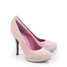 Buffalo Plateau Pumps aus Veloursleder