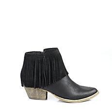 Buffalo Cowboy-Booties in schwarz