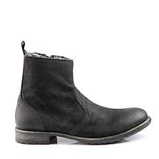 Buffalo Herren-Boots aus schwarzem Veloursleder