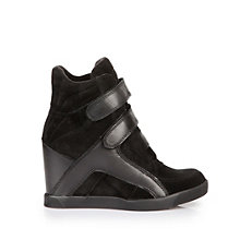 Buffalo Wedge Sneaker in schwarz