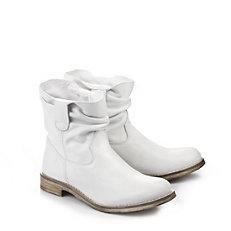 Buffalo Biker Booties in weiß