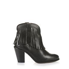 Buffalo Cowboy-Stiefelete in schwarz