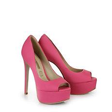 Buffalo Plateau Peep Toes in pink